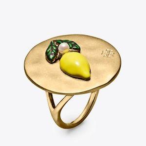 NEW RARE! Tory Burch Lemon Coin Ring